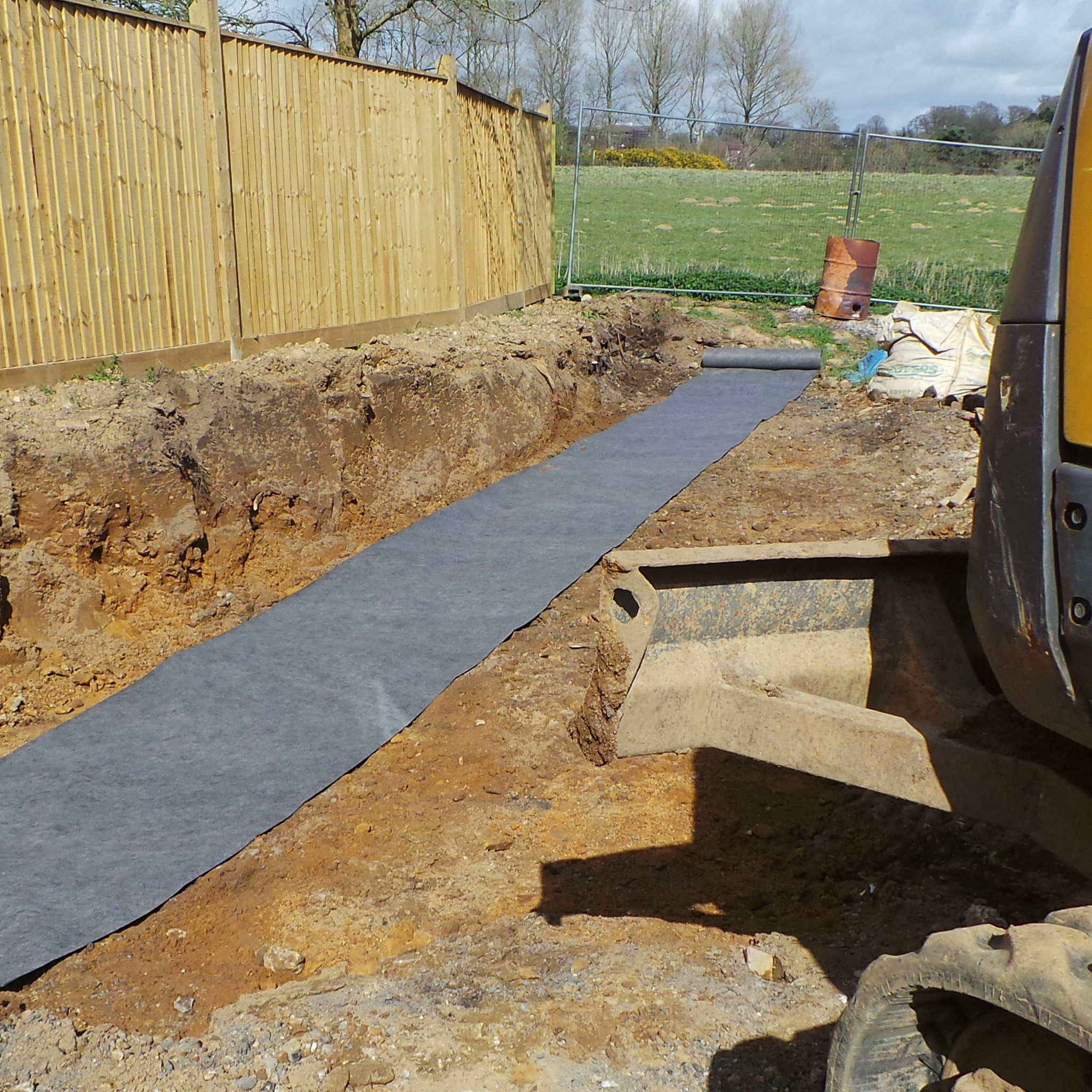 driveway geotextile fabric x 50m roll. Black Bedroom Furniture Sets. Home Design Ideas